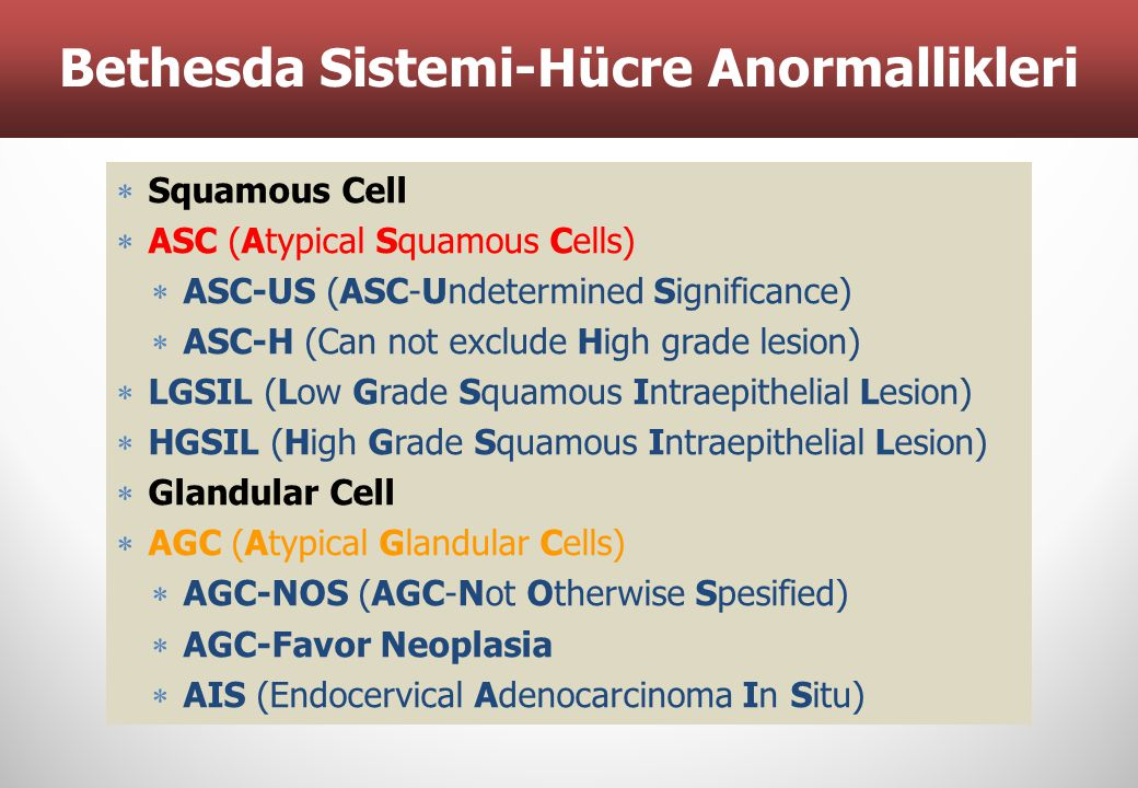 Bethesda Sistemi-Hücre Anormallikleri