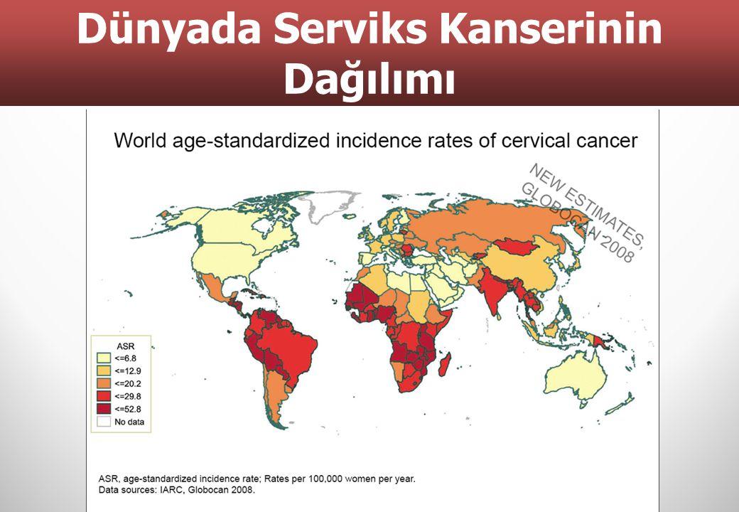 Dünyada Serviks Kanserinin Dağılımı