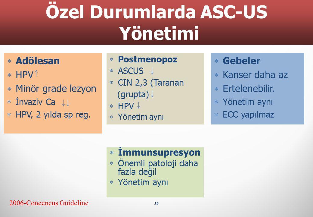 Özel Durumlarda ASC-US Yönetimi