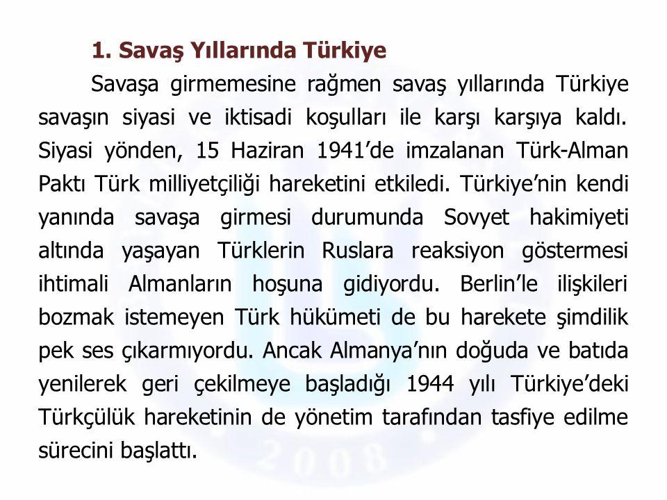 1. Savaş Yıllarında Türkiye