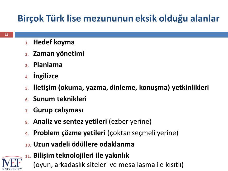 Birçok Türk lise mezununun eksik olduğu alanlar
