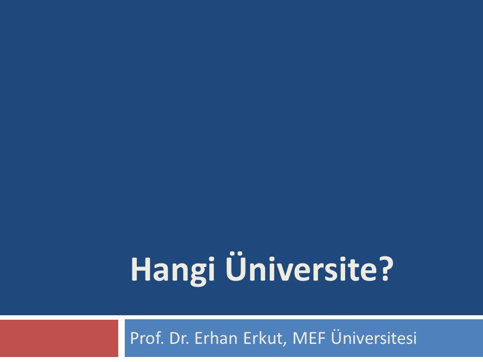 Prof. Dr. Erhan Erkut, MEF Üniversitesi