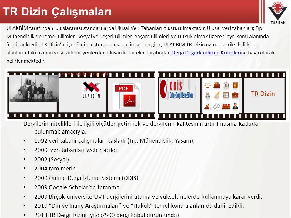 TR Dizin Çalışmaları TR Dizin