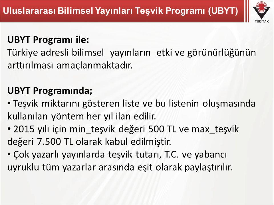 Uluslararası Bilimsel Yayınları Teşvik Programı (UBYT)