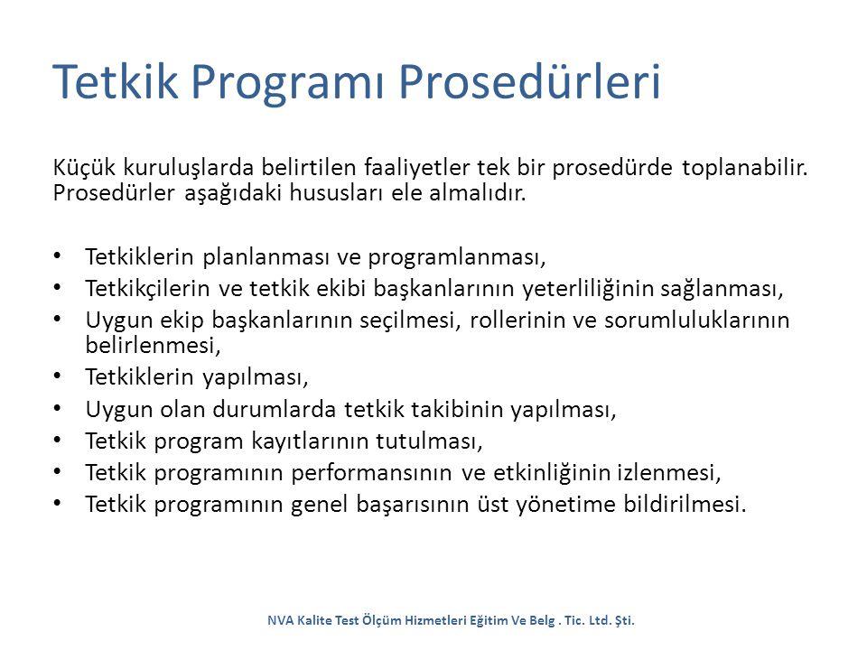 Tetkik Programı Prosedürleri
