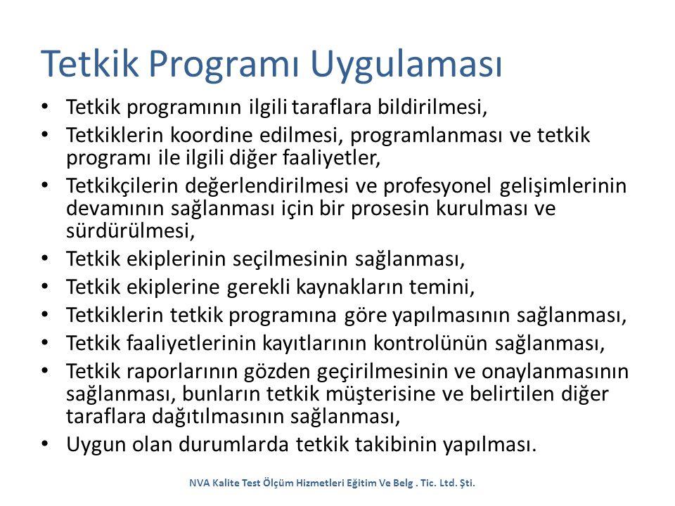Tetkik Programı Uygulaması