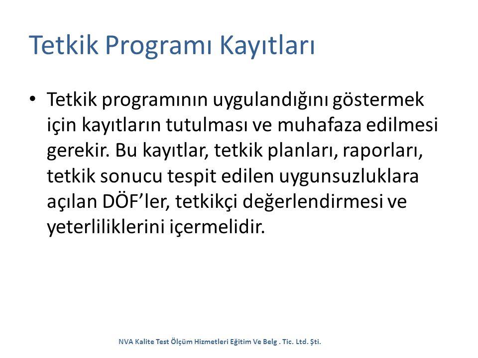 Tetkik Programı Kayıtları