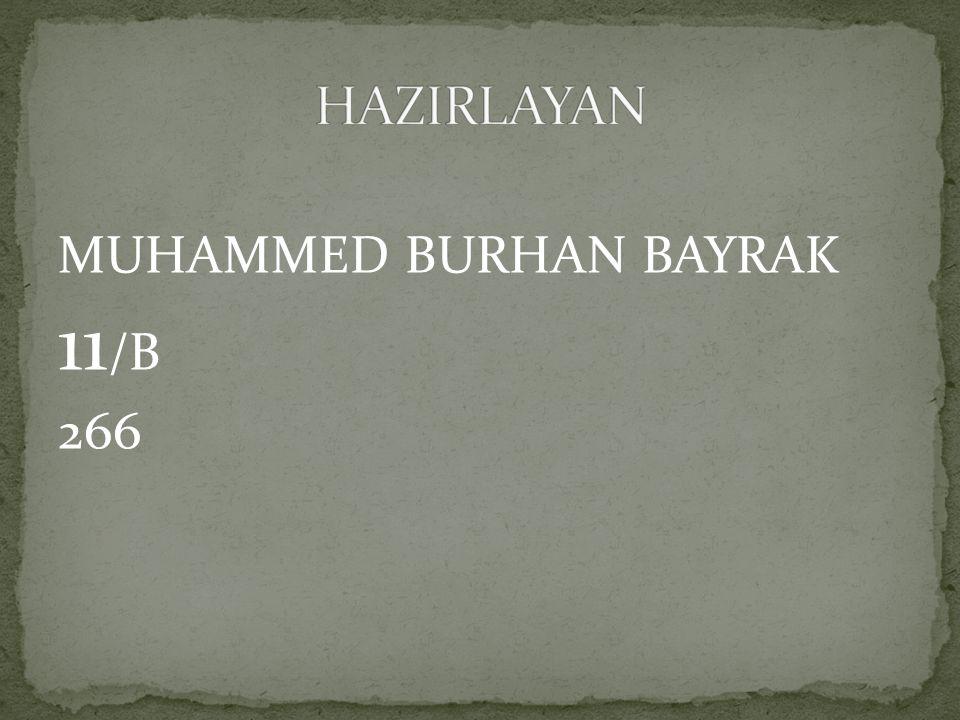 HAZIRLAYAN MUHAMMED BURHAN BAYRAK 11/B 266