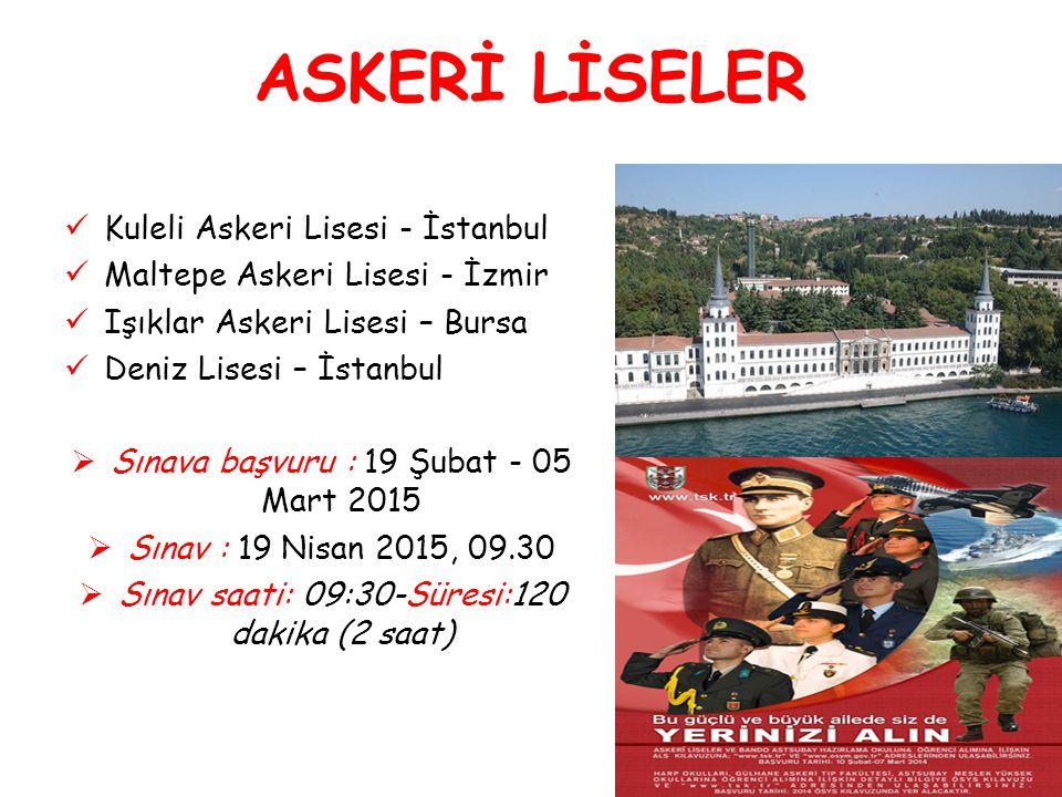 ASKERİ LİSELER Kuleli Askeri Lisesi - İstanbul