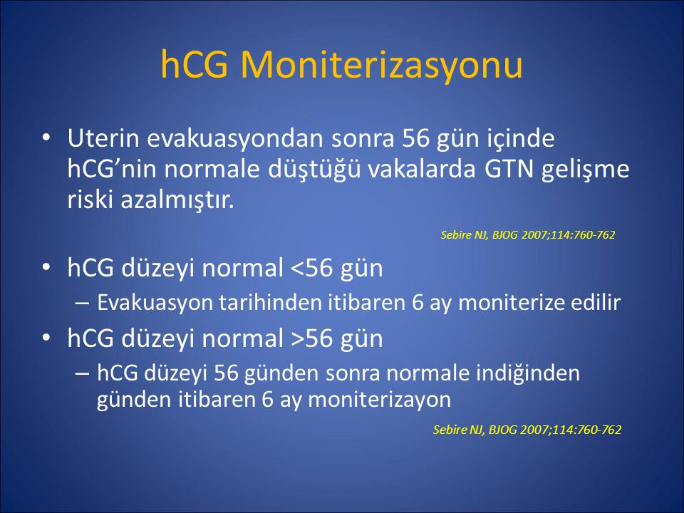 hCG Moniterizasyonu