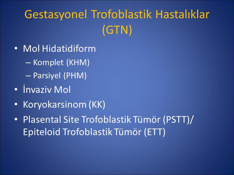 Gestasyonel Trofoblastik Hastalıklar (GTN)