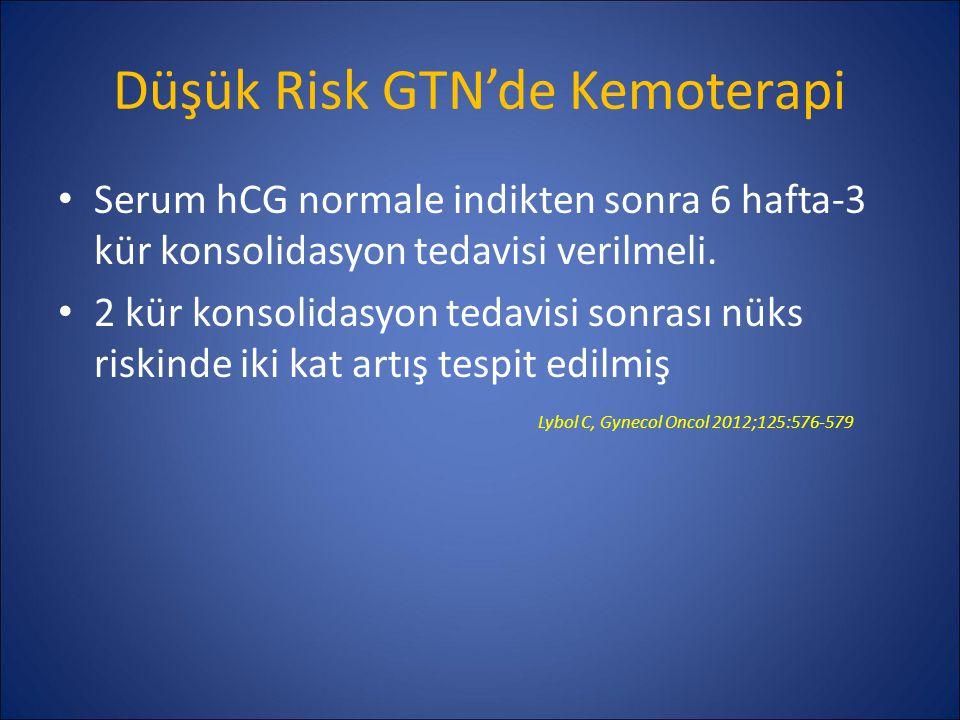 Düşük Risk GTN'de Kemoterapi