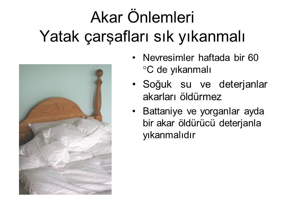 Akar Önlemleri Yatak çarşafları sık yıkanmalı
