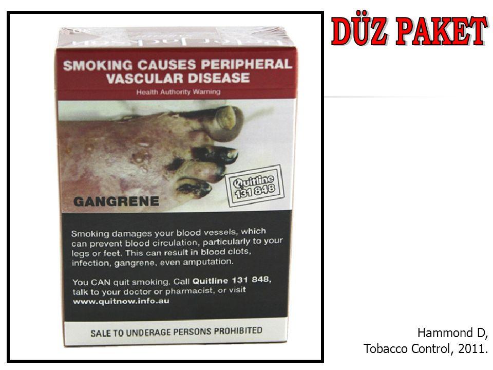 DÜZ PAKET Hammond D, Tobacco Control, 2011.