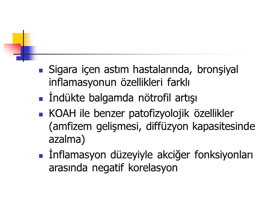 Sigara içen astım hastalarında, bronşiyal inflamasyonun özellikleri farklı