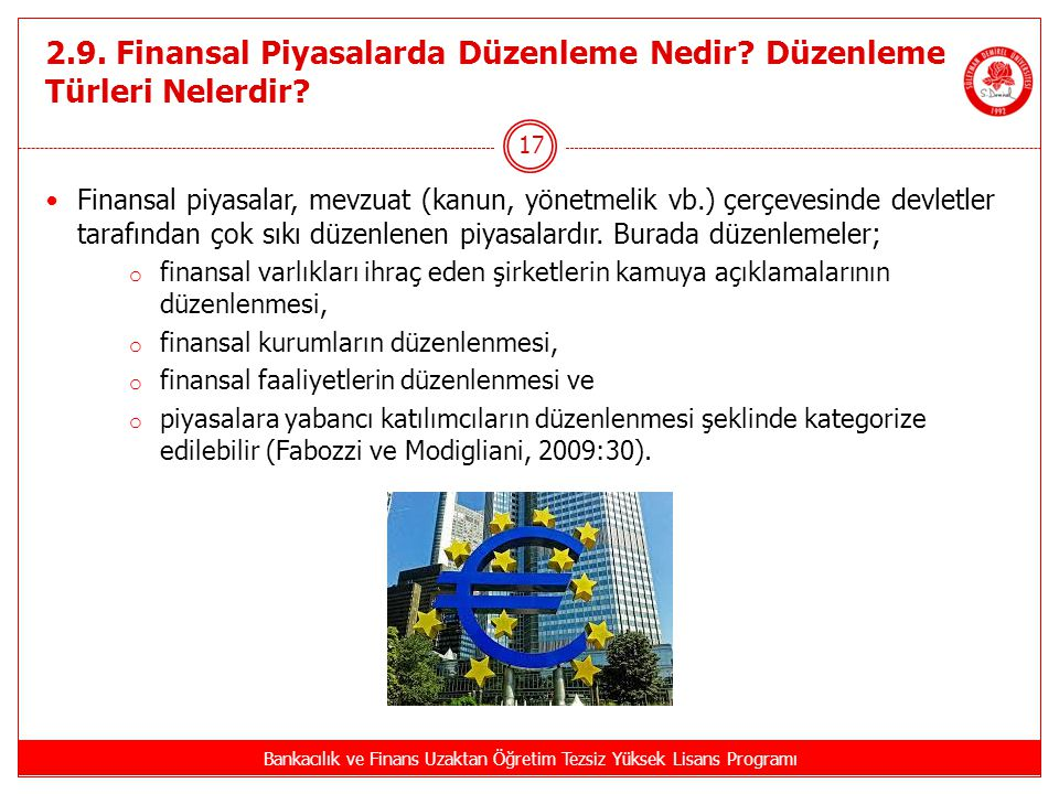 2.9. Finansal Piyasalarda Düzenleme Nedir Düzenleme Türleri Nelerdir