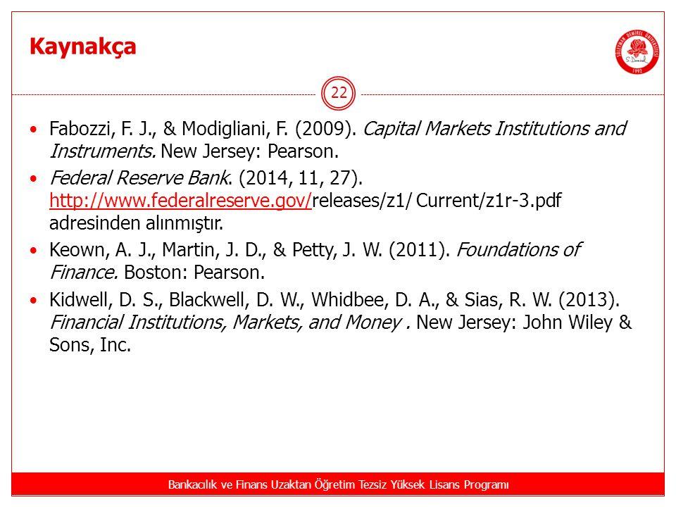 Bankacılık ve Finans Uzaktan Öğretim Tezsiz Yüksek Lisans Programı