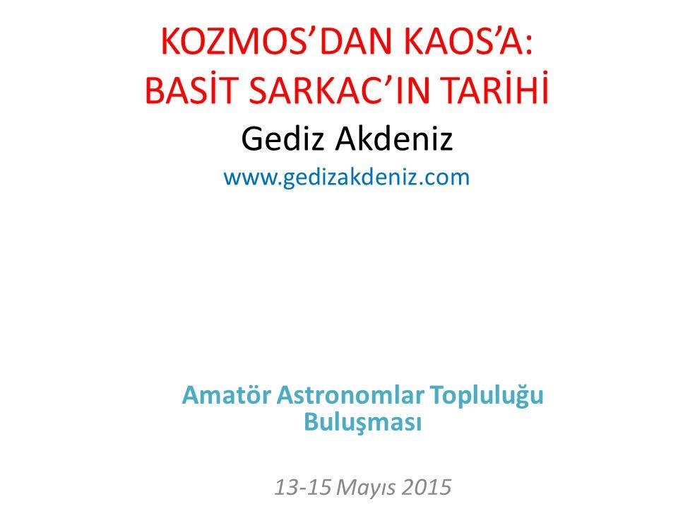 Amatör Astronomlar Topluluğu Buluşması 13-15 Mayıs 2015