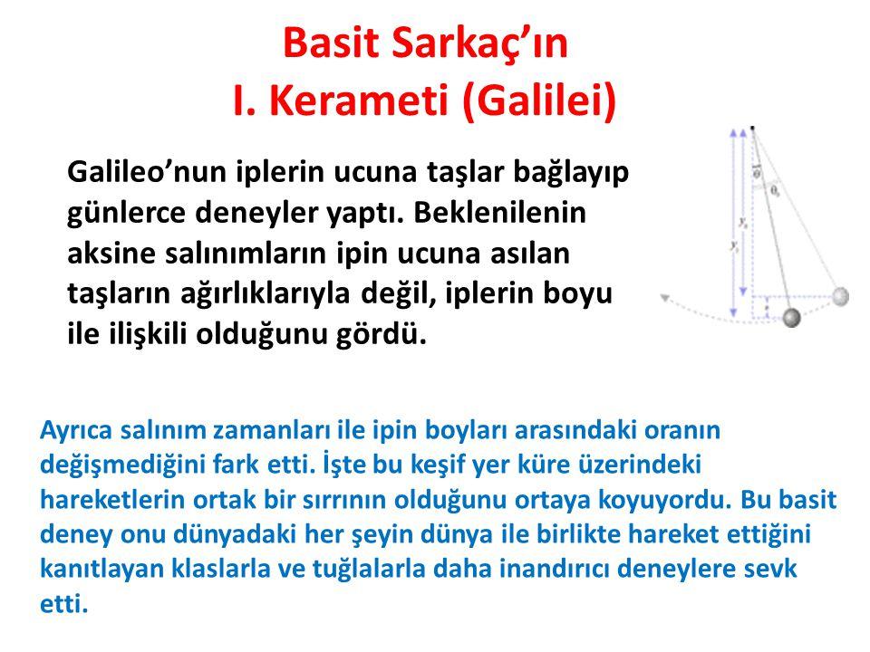 Basit Sarkaç'ın I. Kerameti (Galilei)