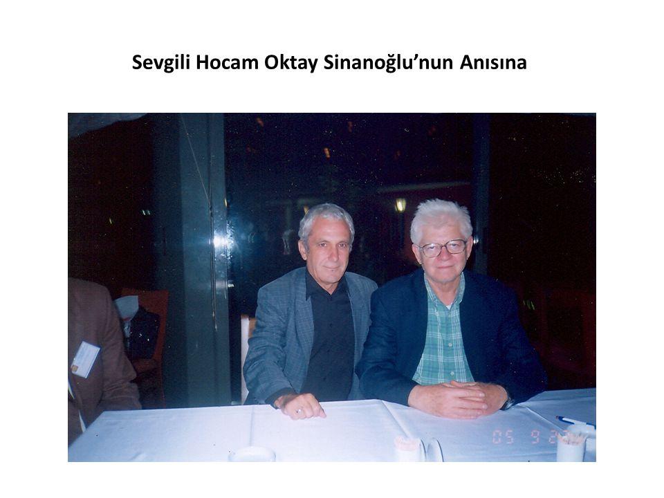 Sevgili Hocam Oktay Sinanoğlu'nun Anısına