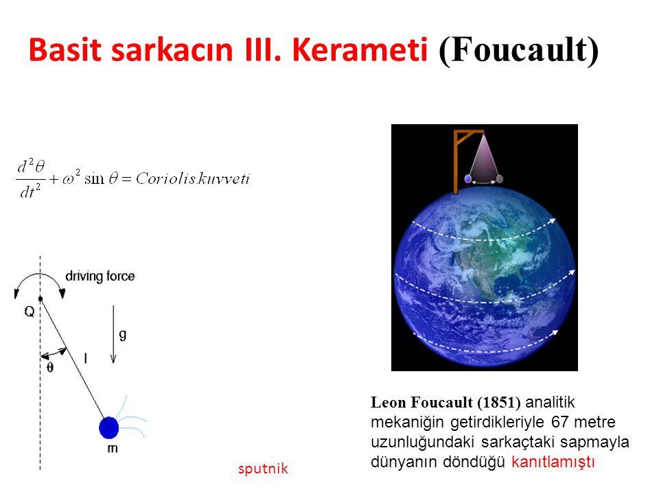 Basit sarkacın III. Kerameti (Foucault)