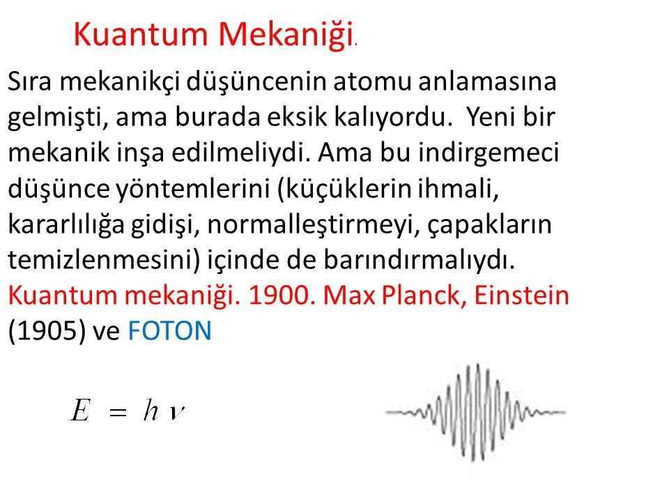 Kuantum Mekaniği.