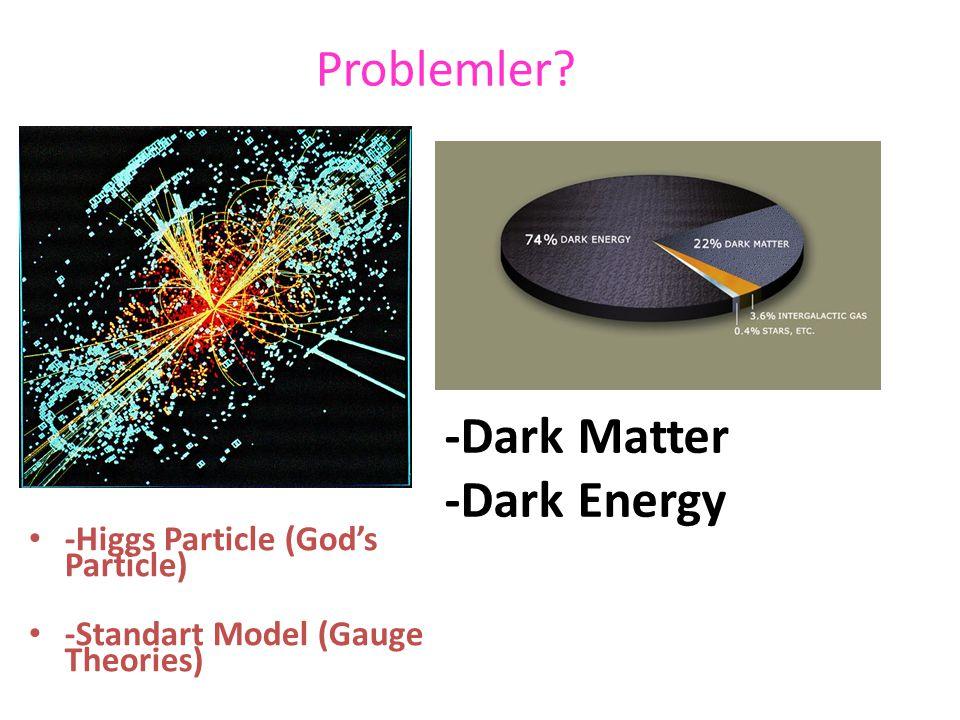 Problemler -Dark Matter -Dark Energy -Higgs Particle (God's Particle)