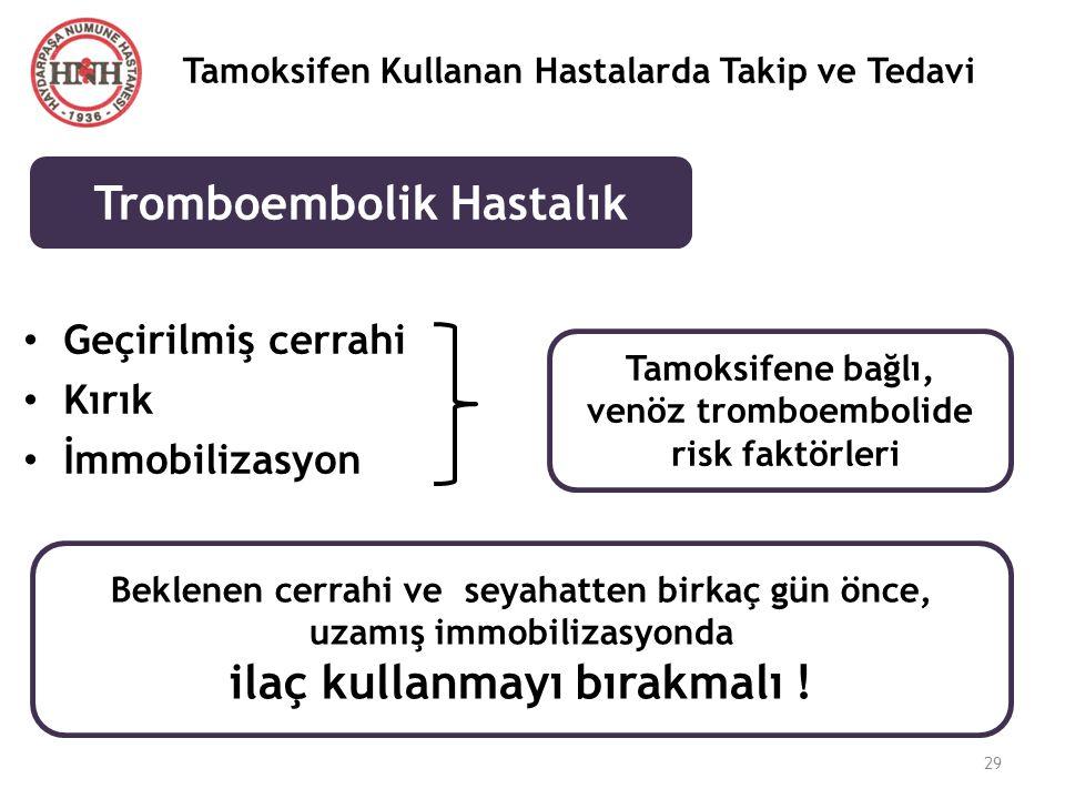 Tromboembolik Hastalık ilaç kullanmayı bırakmalı !
