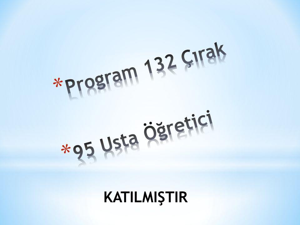Program 132 Çırak 95 Usta Öğretici KATILMIŞTIR