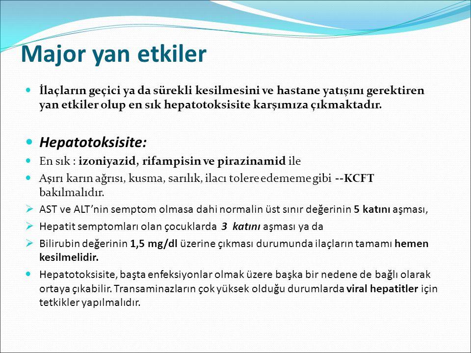 Major yan etkiler Hepatotoksisite:
