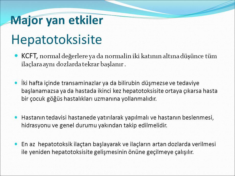 Hepatotoksisite Major yan etkiler