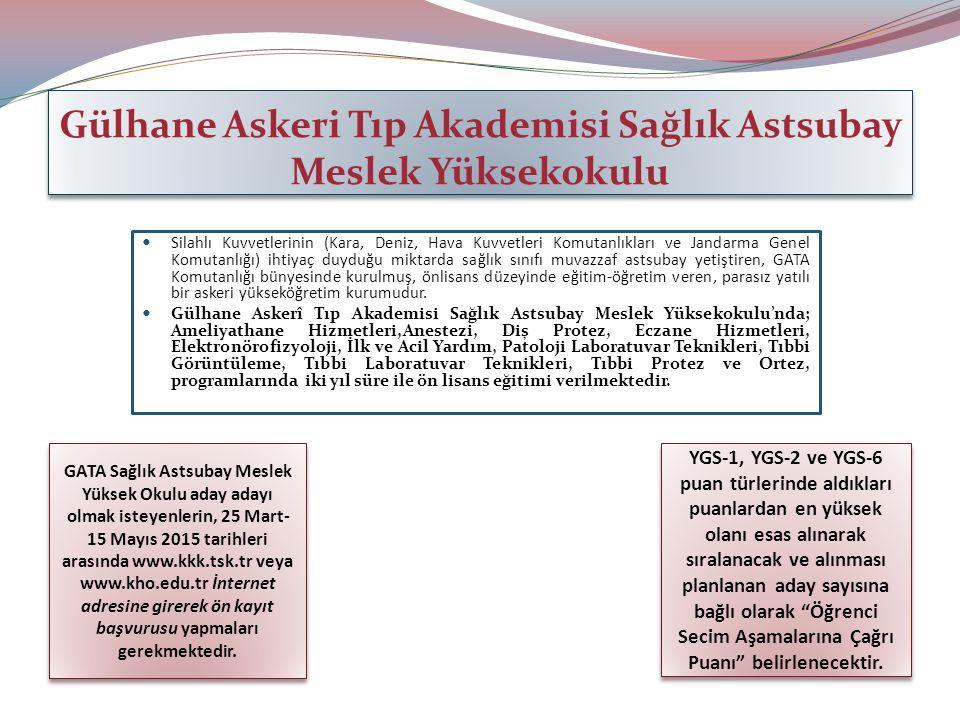 Gülhane Askeri Tıp Akademisi Sağlık Astsubay Meslek Yüksekokulu