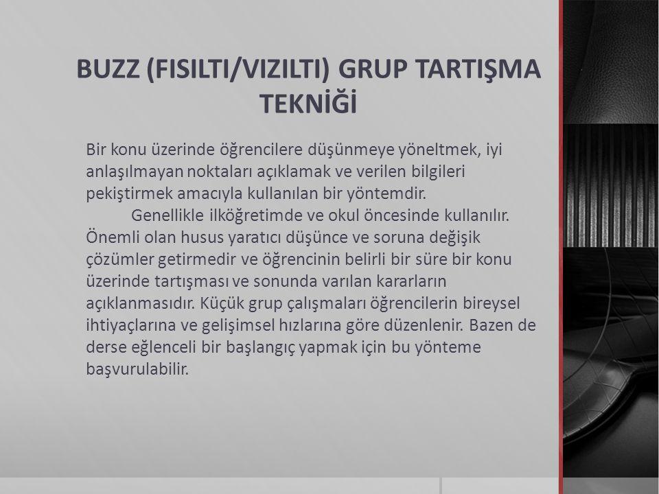 BUZZ (FISILTI/VIZILTI) GRUP TARTIŞMA TEKNİĞİ