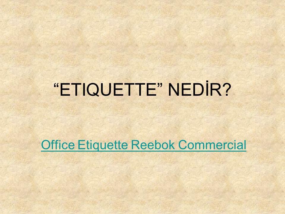 Office Etiquette Reebok Commercial