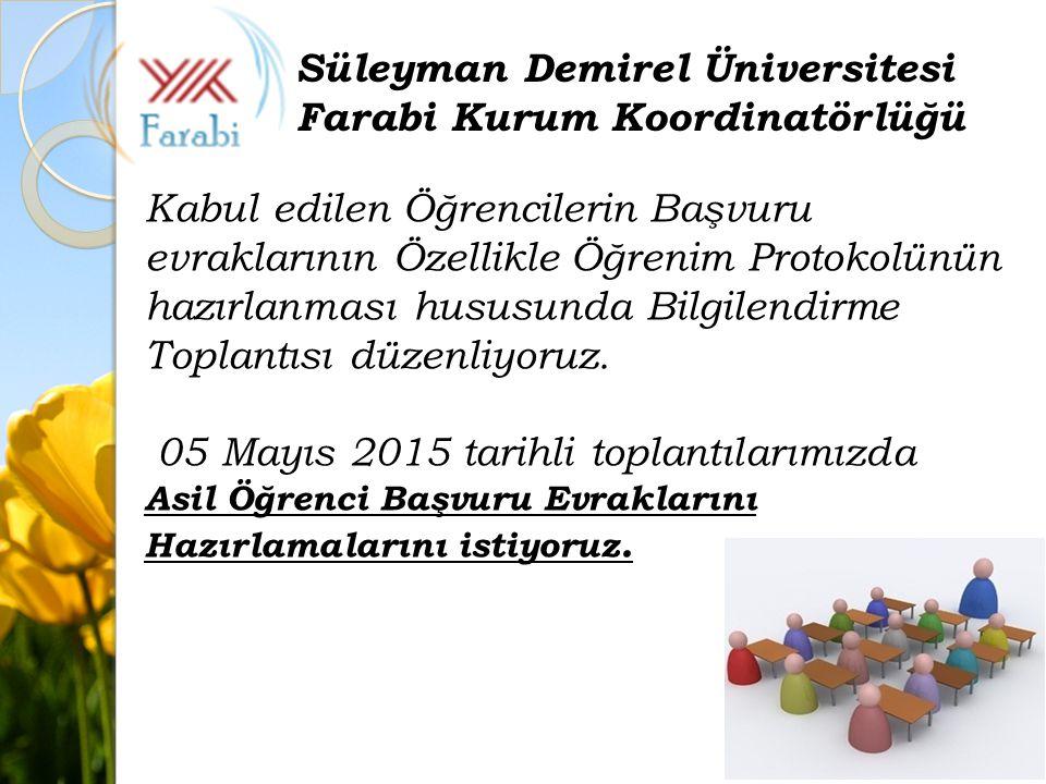 Süleyman Demirel Üniversitesi Farabi Kurum Koordinatörlüğü