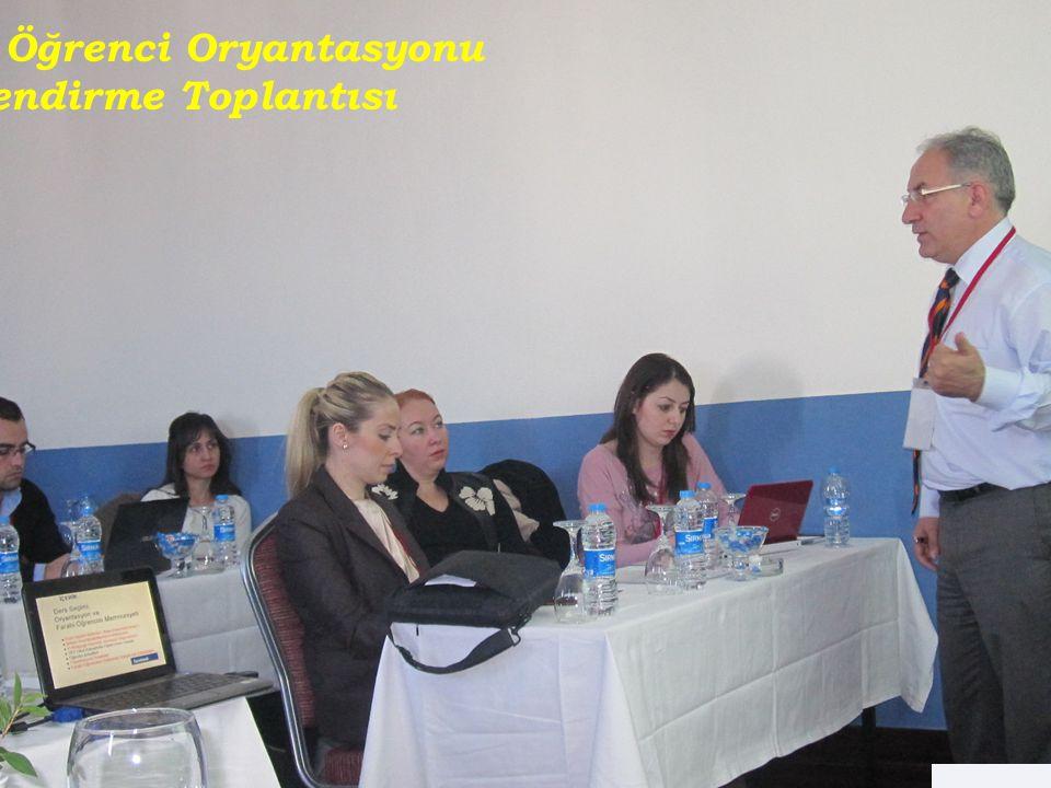 Gelen Öğrenci Oryantasyonu Bilgilendirme Toplantısı