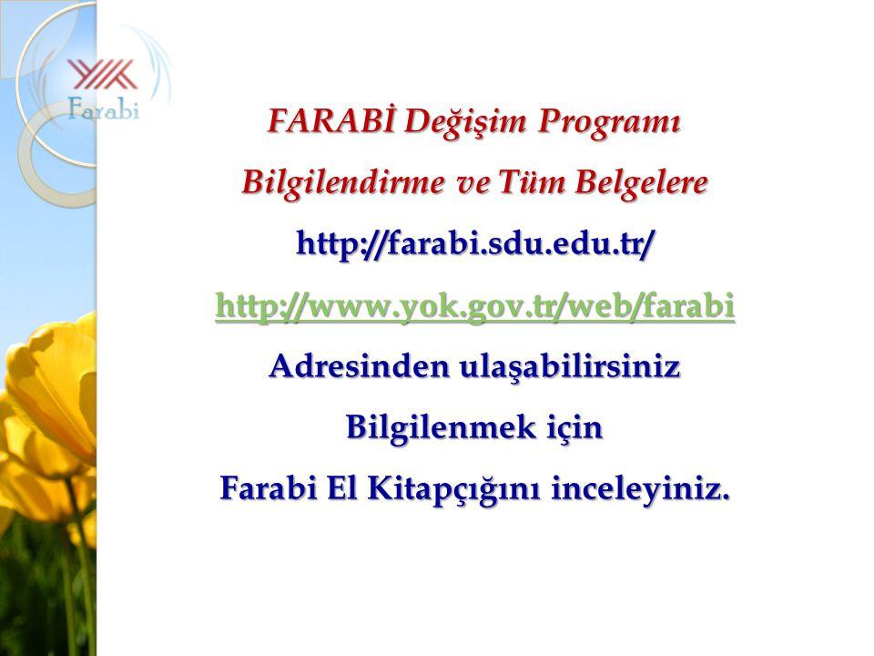 FARABİ Değişim Programı Bilgilendirme ve Tüm Belgelere