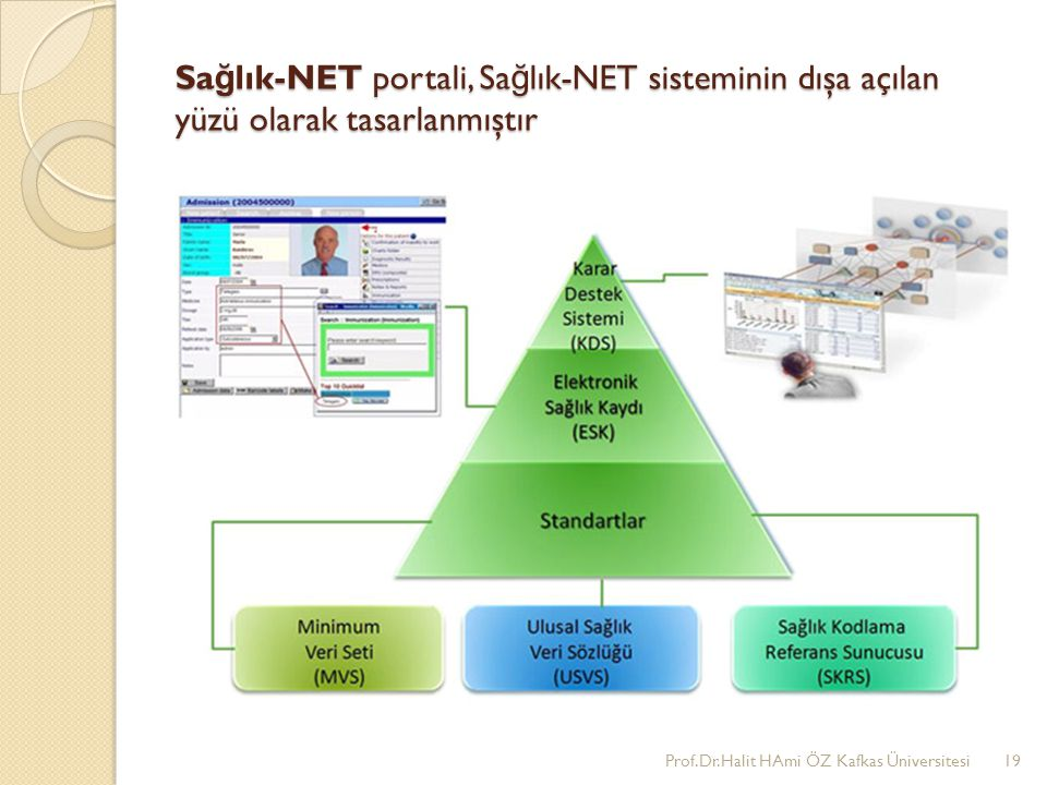 Sağlık-NET portali, Sağlık-NET sisteminin dışa açılan yüzü olarak tasarlanmıştır