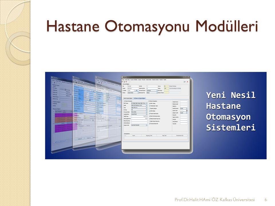 Hastane Otomasyonu Modülleri