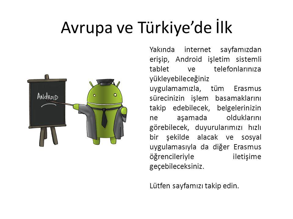 Avrupa ve Türkiye'de İlk