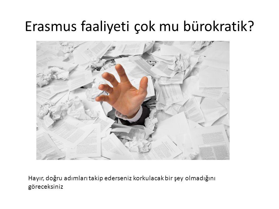 Erasmus faaliyeti çok mu bürokratik