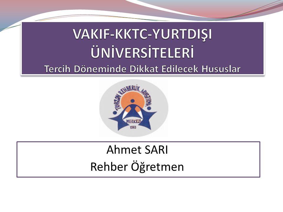 Ahmet SARI Rehber Öğretmen