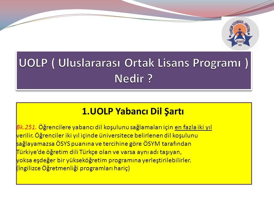 UOLP ( Uluslararası Ortak Lisans Programı ) Nedir