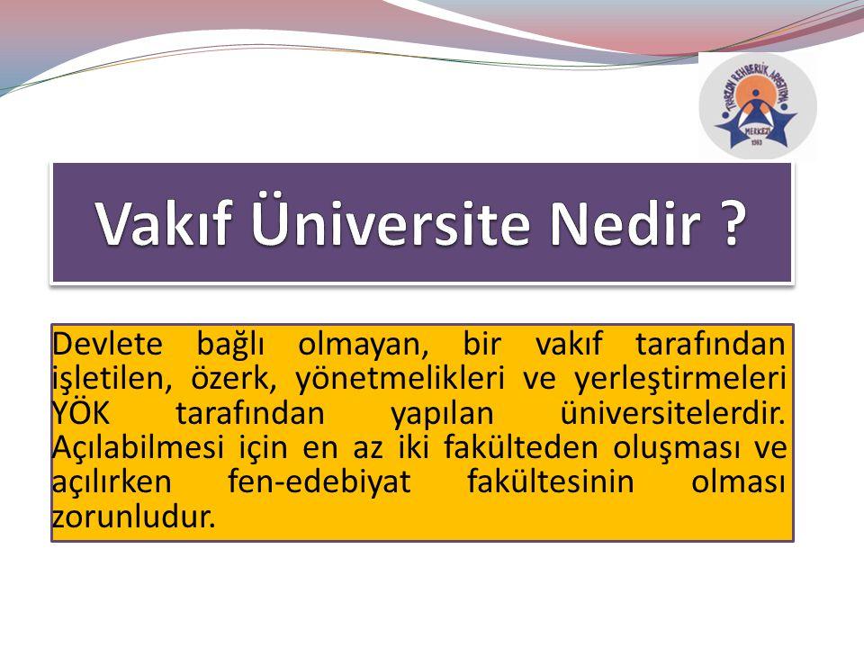 Vakıf Üniversite Nedir