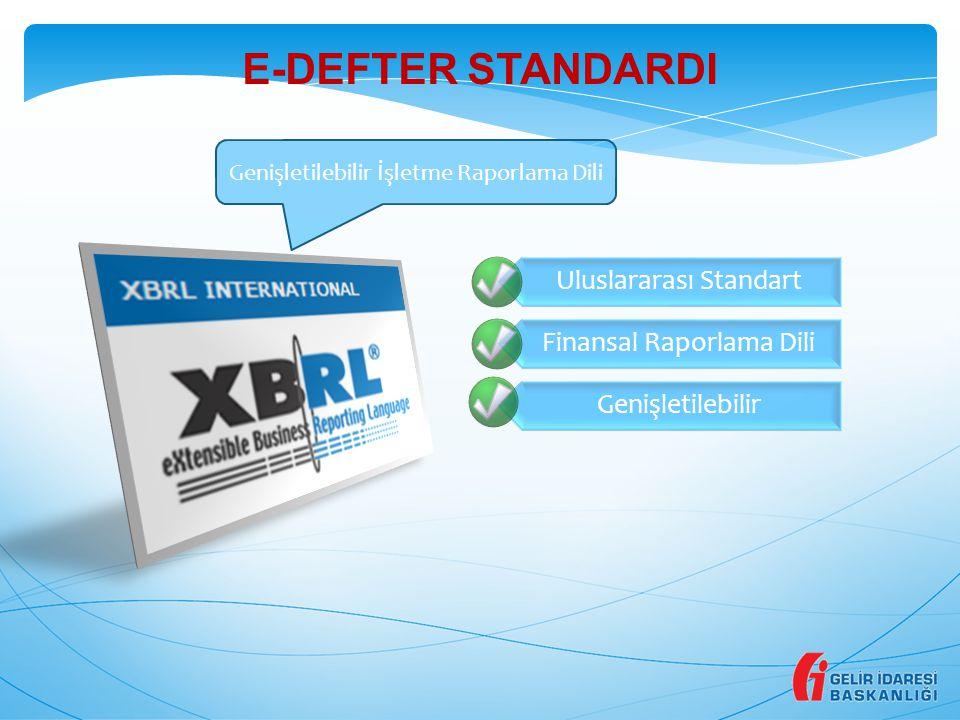 E-DEFTER STANDARDI Genişletilebilir İşletme Raporlama Dili 4