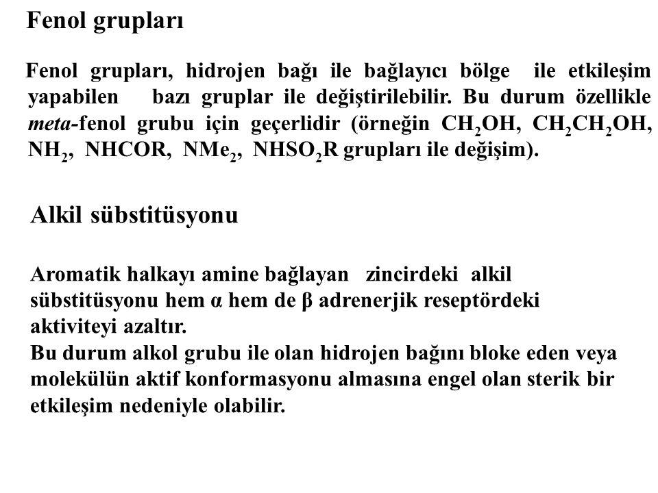 Fenol grupları Alkil sübstitüsyonu