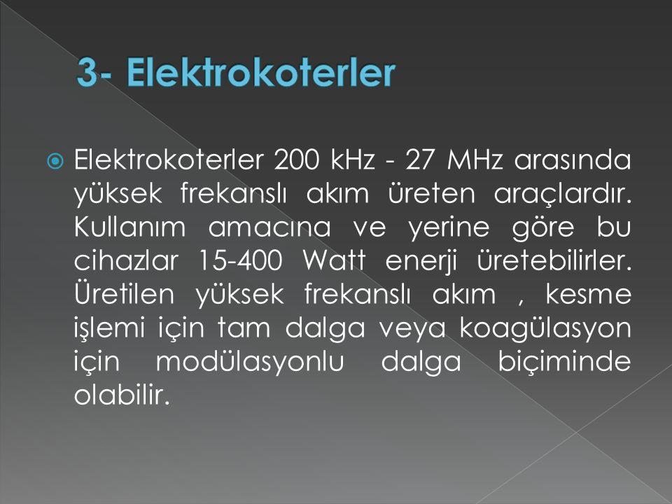 3- Elektrokoterler