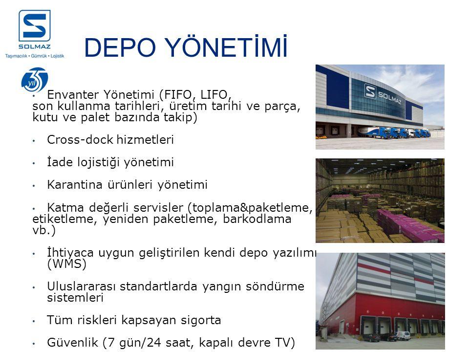 DEPO YÖNETİMİ Envanter Yönetimi (FIFO, LIFO,