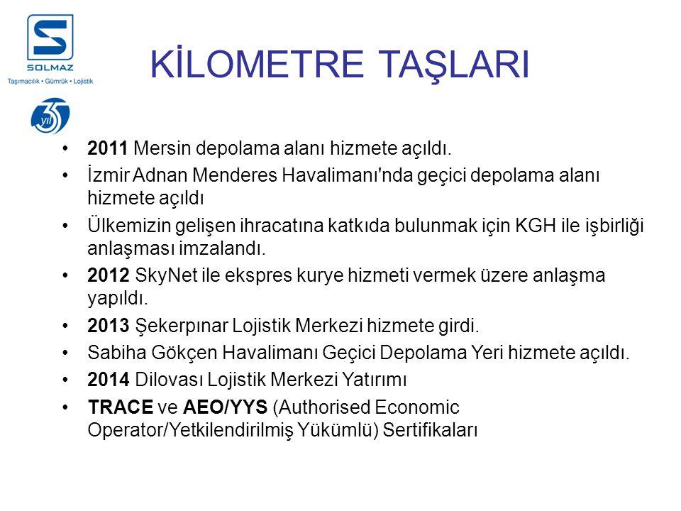 KİLOMETRE TAŞLARI 2011 Mersin depolama alanı hizmete açıldı.