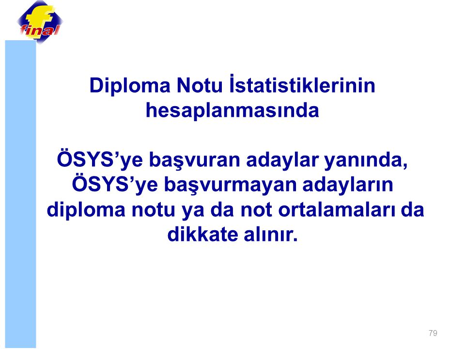 Diploma Notu İstatistiklerinin hesaplanmasında